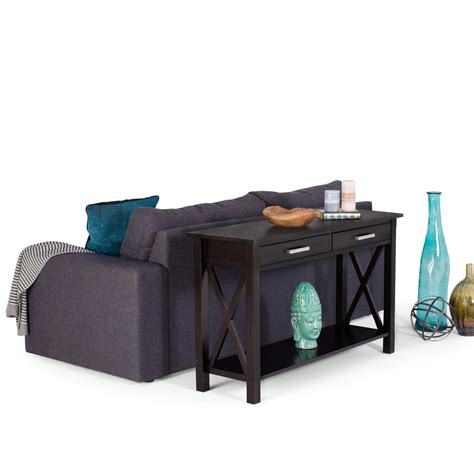 96 inch sofa table amazon com simpli home kitchener console table dark