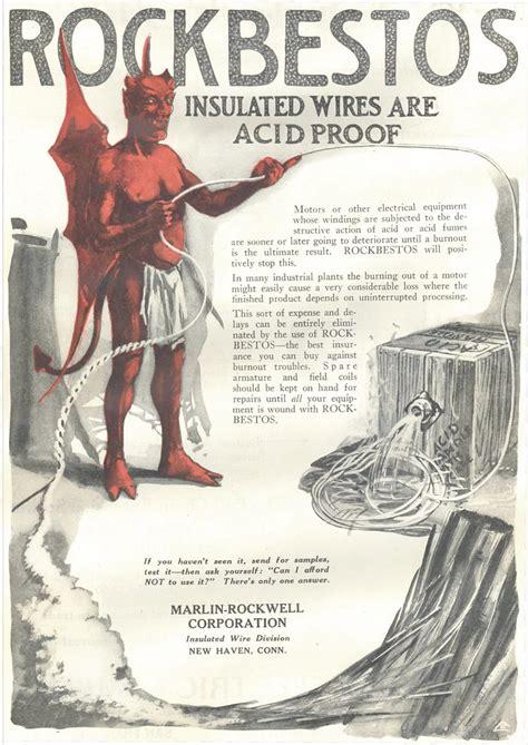 rockbestos asbestos insulated wire ad  vintage