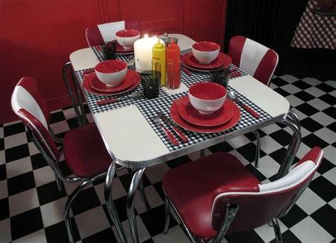 ensemble diner americain vintage decoration