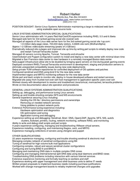 entry level network administrator resume exles 28 images