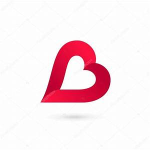 Letter B heart logo icon design template elements — Stock ...