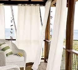 outdoor drapes hardware pottery barn