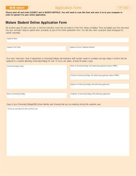 15247 application format for students student railcard application sle form free
