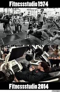 Fitnessstudio früher und heute Lustige Bilder, Sprüche