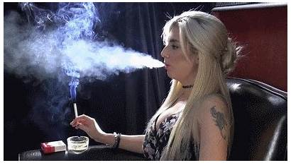 Smoking Blonde Naomi Smokers