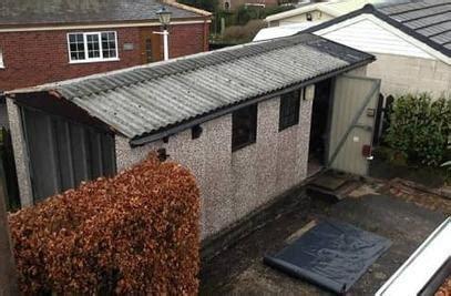 asbestos garage roof removal  garage refurbishment  bury