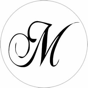 Monogram Letter Wedding Hershey Kiss Sticker Label Non ...