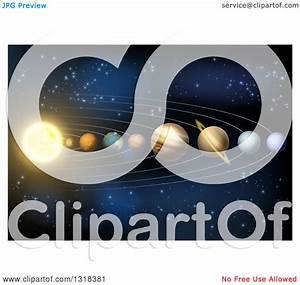 Clipart Of A 3d Diagram Of Planets In Our Solar System