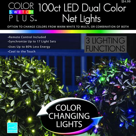 color changing led christmas lights color switch plus dual color changing led net christmas
