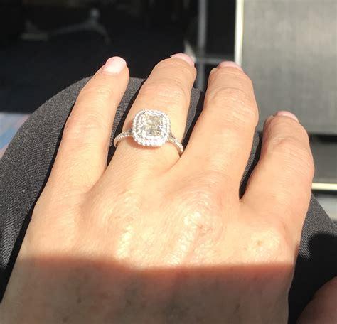 soleste double halo engagement ring 1 28 carat center stone i do now i don t