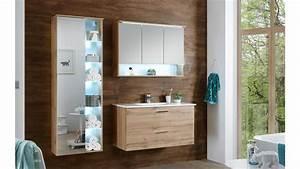 Badezimmer Spiegel Beleuchtung : badezimmer best in wildeiche inkl spiegel led beleuchtung und becken ~ Watch28wear.com Haus und Dekorationen