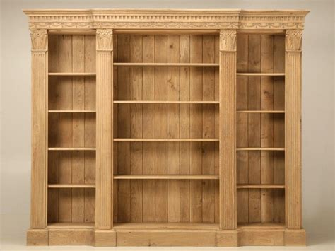 modular  wide weathered white oak bookcase