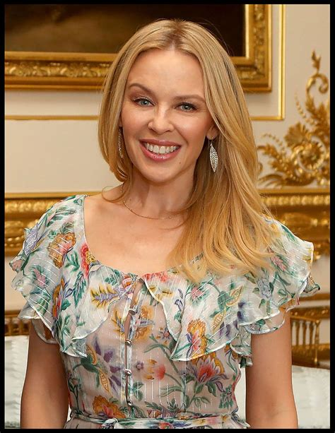 Kylie Minogue at Windsor Castle - Receiving Britain ...