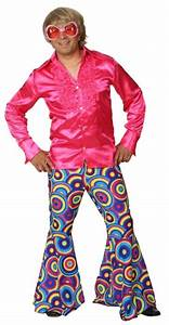 Schlaghose Herren 70er Jahre Mode Party Outfit Mit Schlag