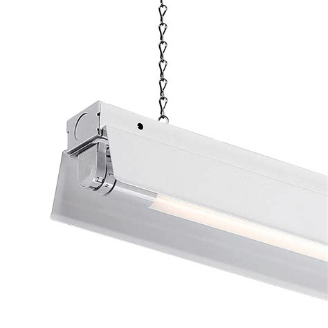 led shop lighting envirolite 4 ft 1 light white led shop light with t8 led