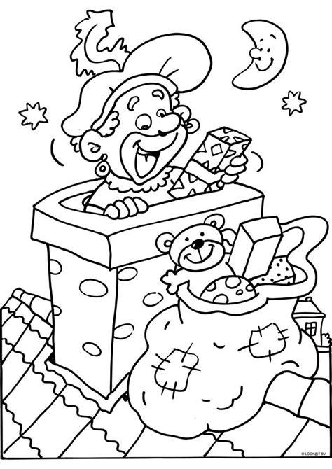 Kleurplaat Piet In Schoorsteen by Zwarte Piet In De Schoorsteen Sint Kleurplaten