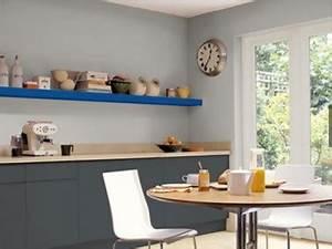 Etagere De Cuisine A Poser Sur Plan De Travail : couleur cuisine meubles gris tag re bleu sur plan de travail ~ Dailycaller-alerts.com Idées de Décoration