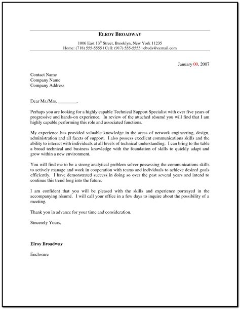 Cover Letter Help by It Help Desk Cover Letter Sle Cover Letter Resume