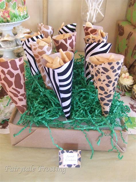 Giraffe Print Baby Shower Decorations by It S A Wild Time With A Boys Safari Baby Shower B