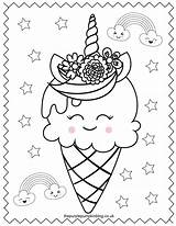 Unicorn Coloring Pages Printable Colouring Para Colorear Ice Cream Cone Sweet Dibujos Cake Imprimir Super Thepurplepumpkinblog Sheets Sheet Printables Adult sketch template