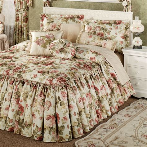 Floral Bedspreads by Springfield Ruffled Flounce Bedspread Bedding