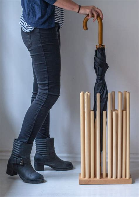 rainforest   sculptural umbrella stand   wooden