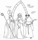 Monk Medieval European Coloring Pages Template sketch template