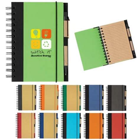 custom recycled spiral notepads personalized  bulk