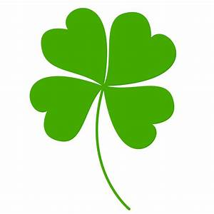 Free Clipart Of A Green St Paddys Day Shamrock Four Leaf ...