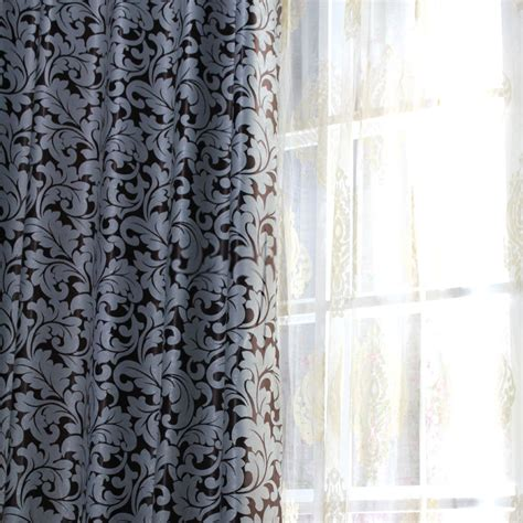 Pattern Drapes - jacquard pattern curtains for european style