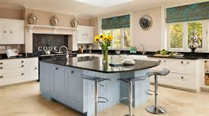 shaker kitchen island white blue painted shaker kitchen from harvey jones