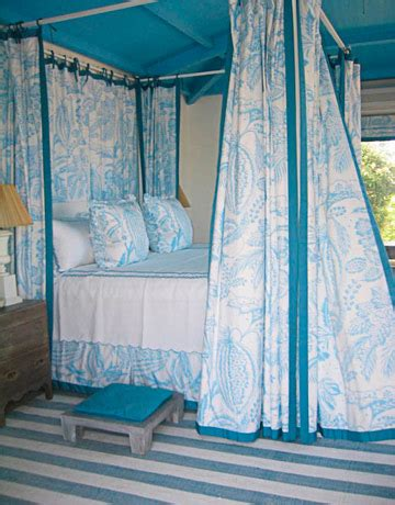 blue bed canopy turquoise blue ceiling cottage bedroom benjamin