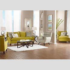 Shop For A Sofia Vergara Catalina Chartreuse 7 Pc Living