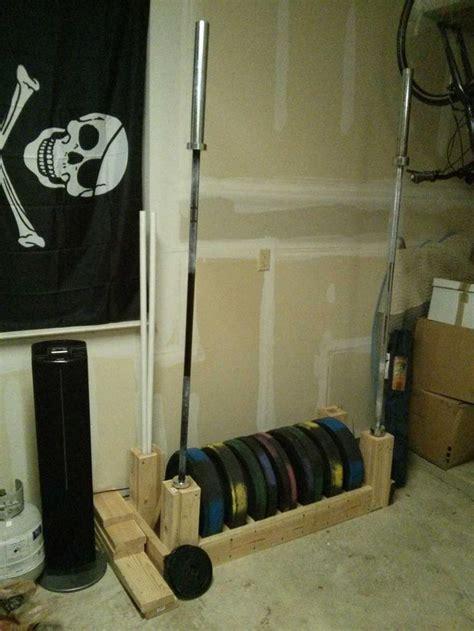 diy bumper plate  barbell storage photo  garage gym pinterest weights