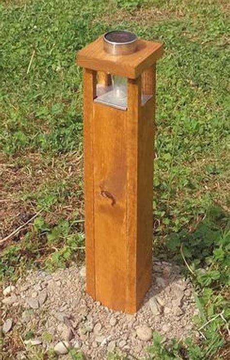 bollard garden light  pallet wood