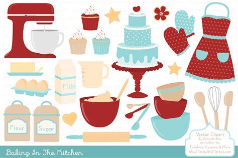 Retro Baking Clipart & Vectors