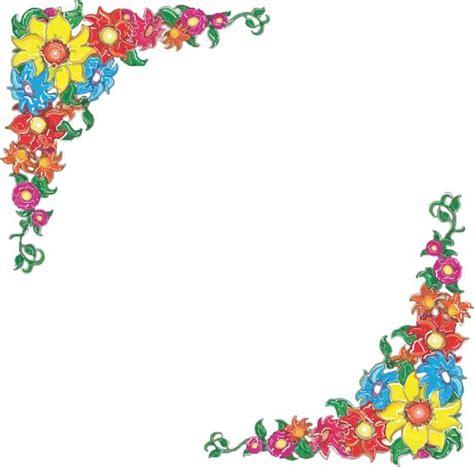 Free Flower Border Clip Art 8 X 10