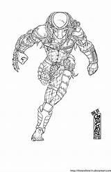 Predator Coloring Ink Drawing Alien Draw Colouring Wolf Runs Deviantart Comics Comic Helmet Dibujos Guardado Desde Artwork Stairs sketch template