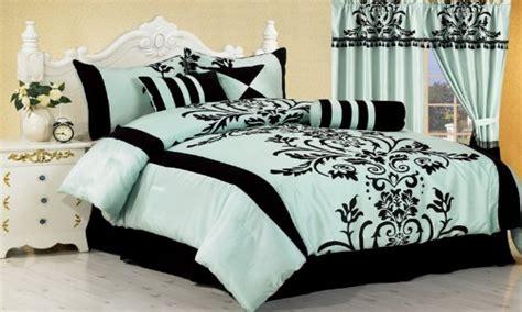 aqua blue bedroom cute black and white comforters black