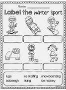 Winter Sports Worksheets Kindergarten 15096 | Unidentified.us