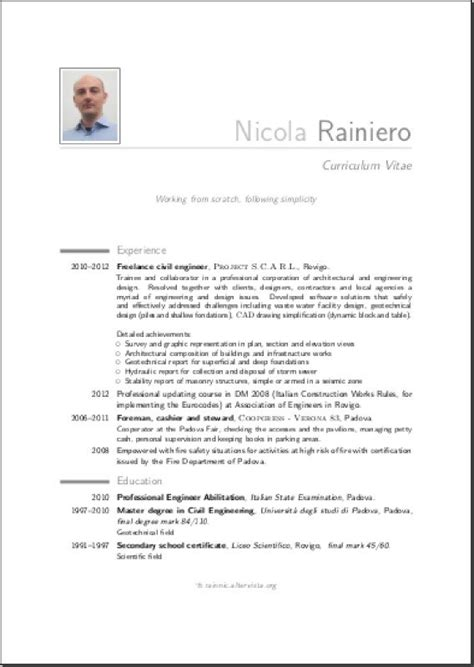 Curriculum Vitae British Model Example Good Resume Template