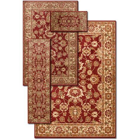threadbind maxine goldyellow  piece area rug set