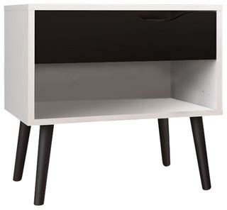 Black And White Nightstands by Atlin Designs 1 Drawer Nightstand White And Black Matte