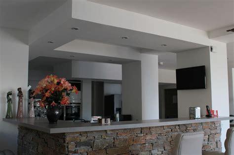 hauteur de hotte de cuisine realisation faux plafond placo 4 1 à brest dans le finistère 29