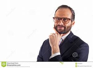 Portrait Of A Business Man Isolated On White Background ...
