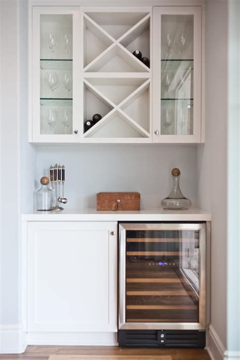 bar cabinet with fridge space a clean and organized dry bar is a great option for a