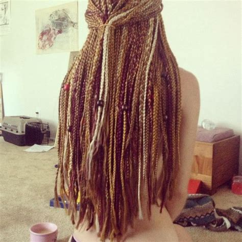 multi color box braids white blonde honey brown hair