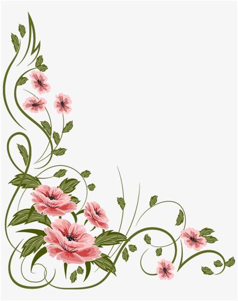 Marcos Flores Png Vintage Flower Vector Png Transparent