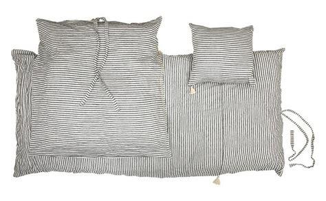ticking black  white stripe duvet