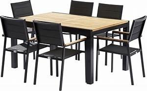 Chaises De Jardin En Soldes : table et chaises de jardin moderne bali 6 fauteuils ~ Teatrodelosmanantiales.com Idées de Décoration